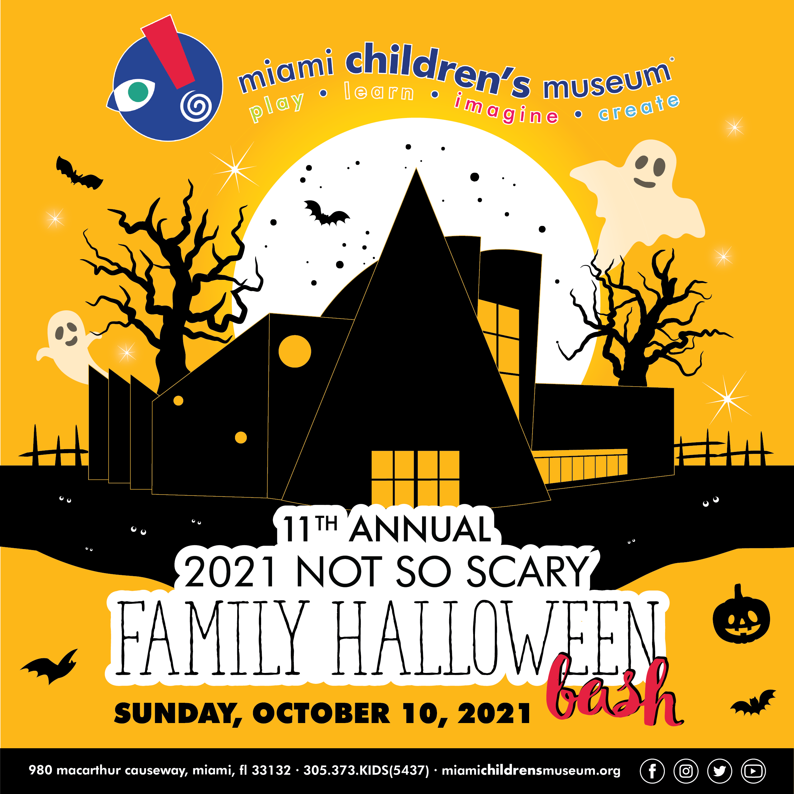 MIAMI CHILDREN'S MUSEUM SETS DATE FOR RETURN OF THE 11TH ANNUAL NOT SO SCARY FAMILY HALLOWEEN BASH Sunday, October 10, 2021