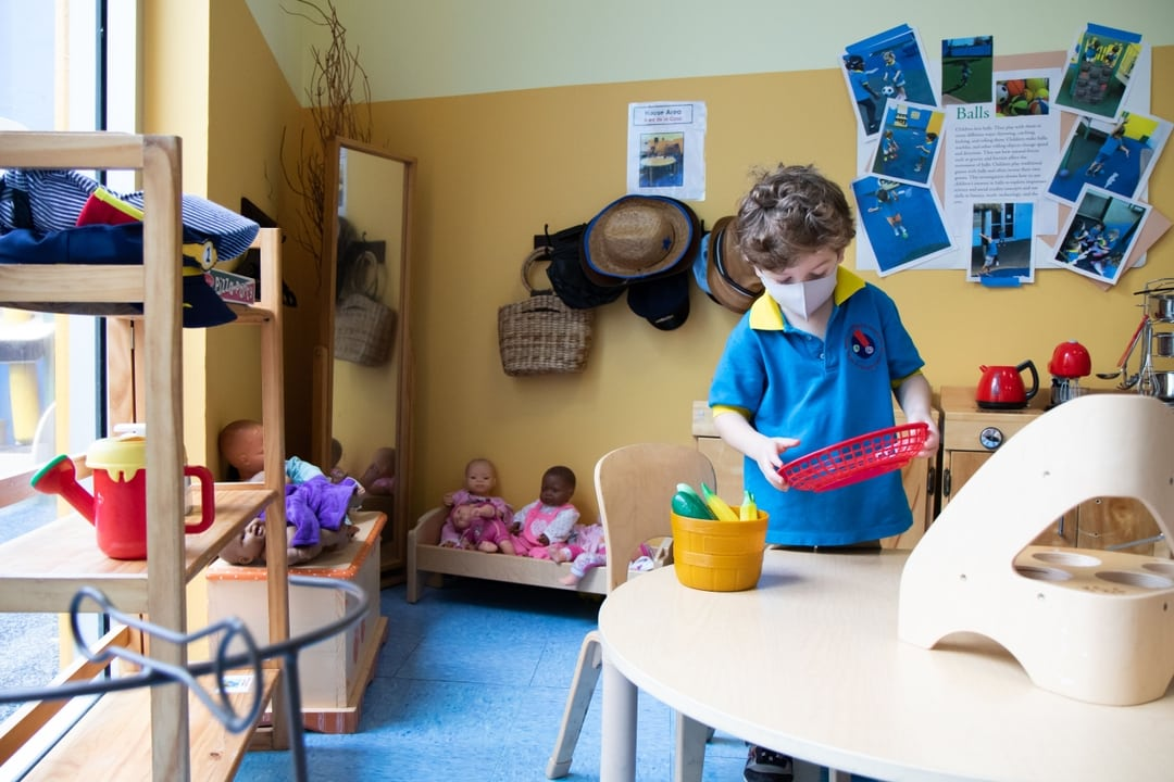 Kid playing classrom