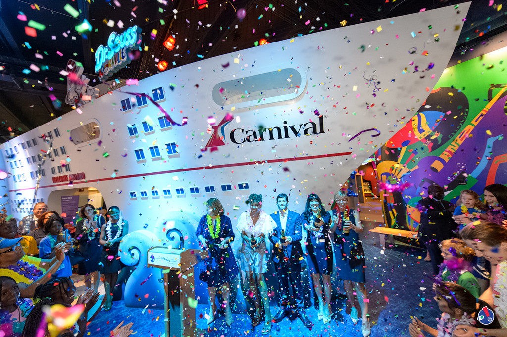 JUL 17: Grand Opening of Carnival Cruise Line Newly Renovated Upper Deck Permanent Cruise Ship Exhibit