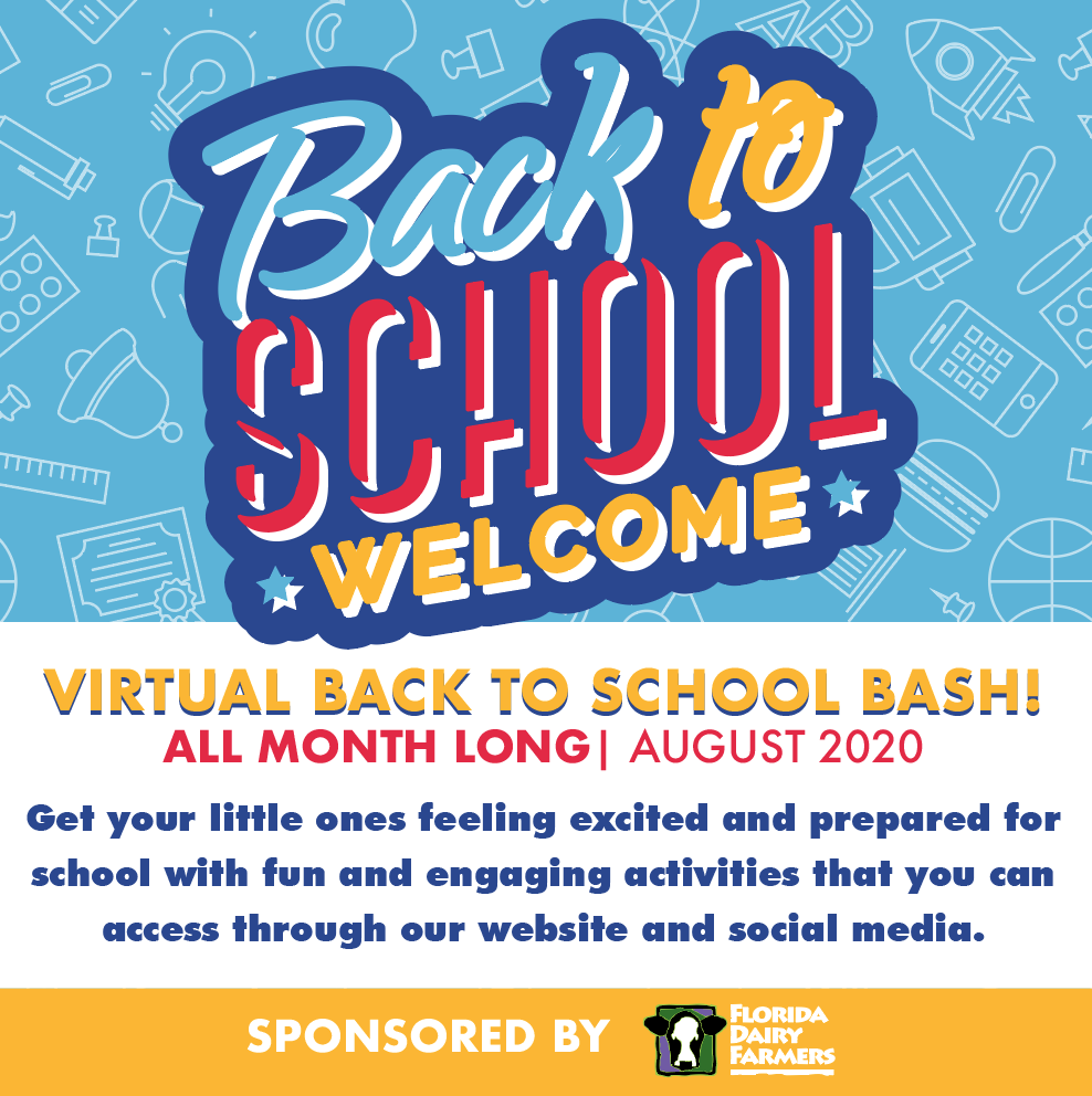 """AUGUST 2020: GET CHILDREN GEARED UP FOR SCHOOL BY PARTICIPATING IN MIAMI CHILDREN'S MUSEUM'S """"VIRTUAL BACK TO SCHOOL BASH"""""""