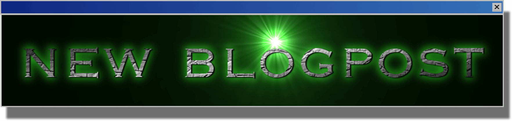 New blogpost