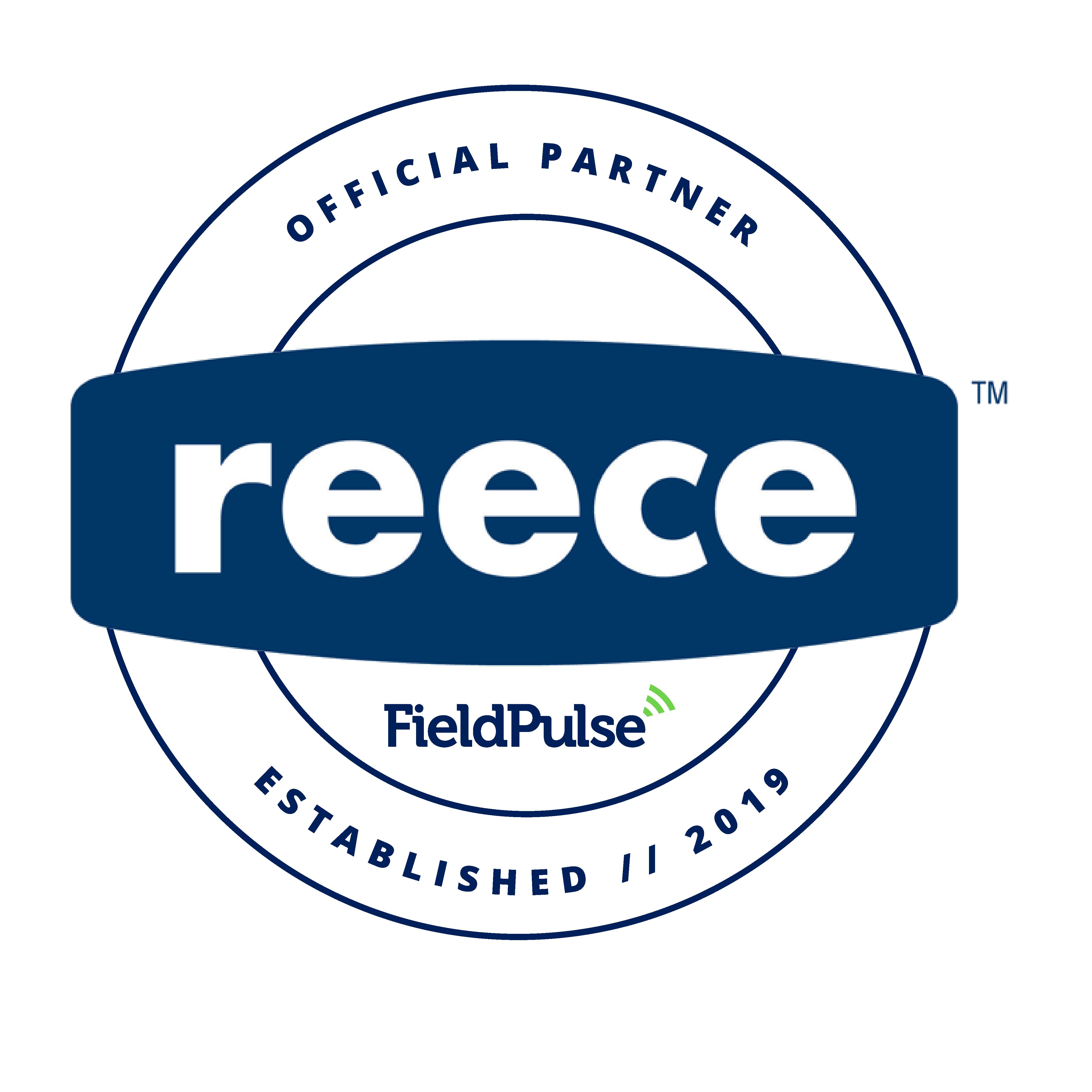 Reece Logo joined FieldPulse logo