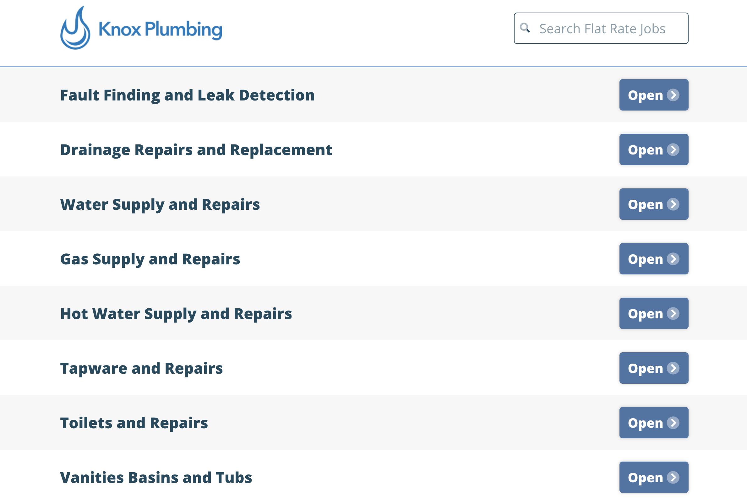 Plumbing Estimate from Pricebook