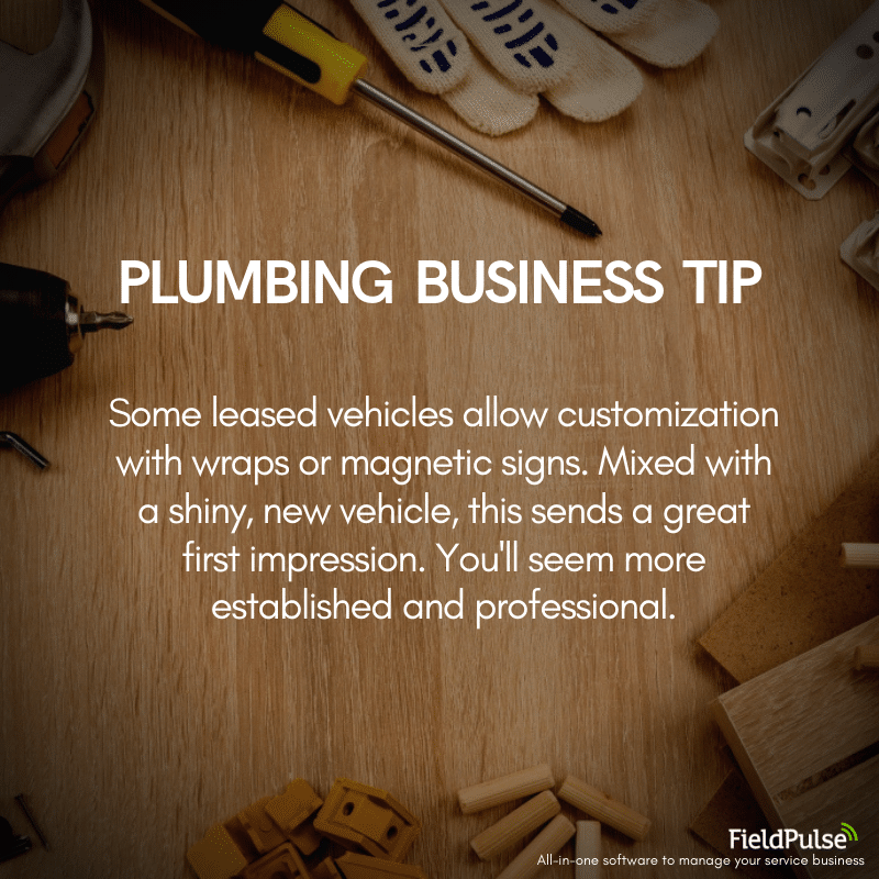 Plumbing Business Tip Leasing Vehicles