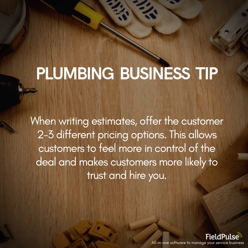 Plumbing Business Tip Estimates
