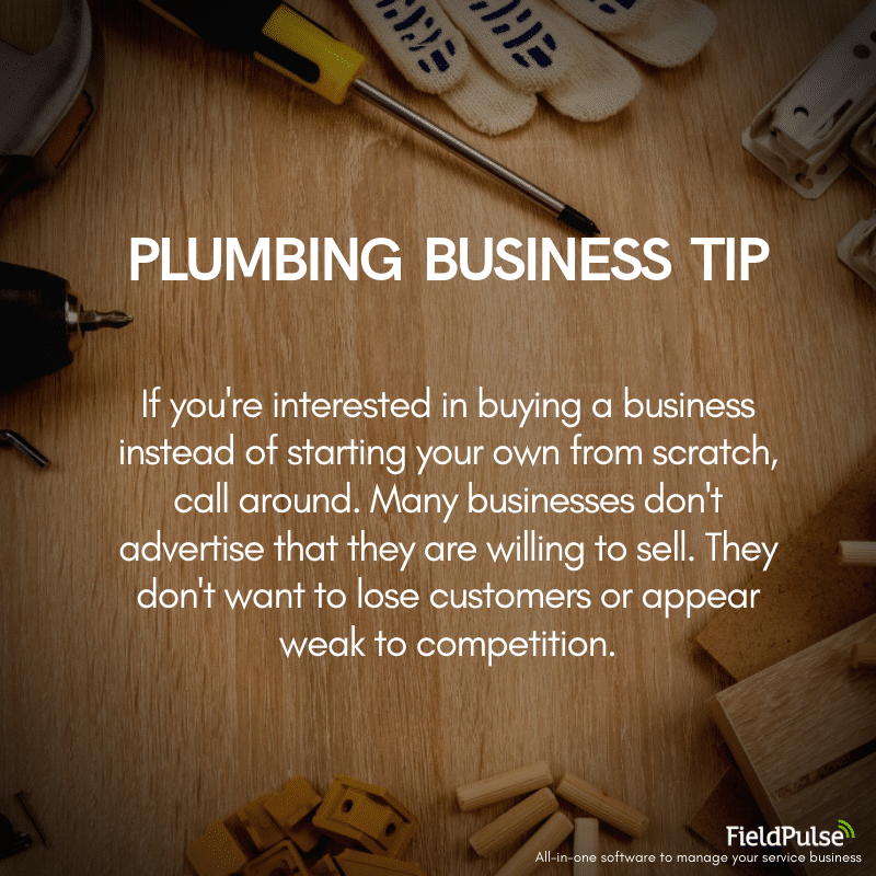 Plumbing Business Tip Buying a Company