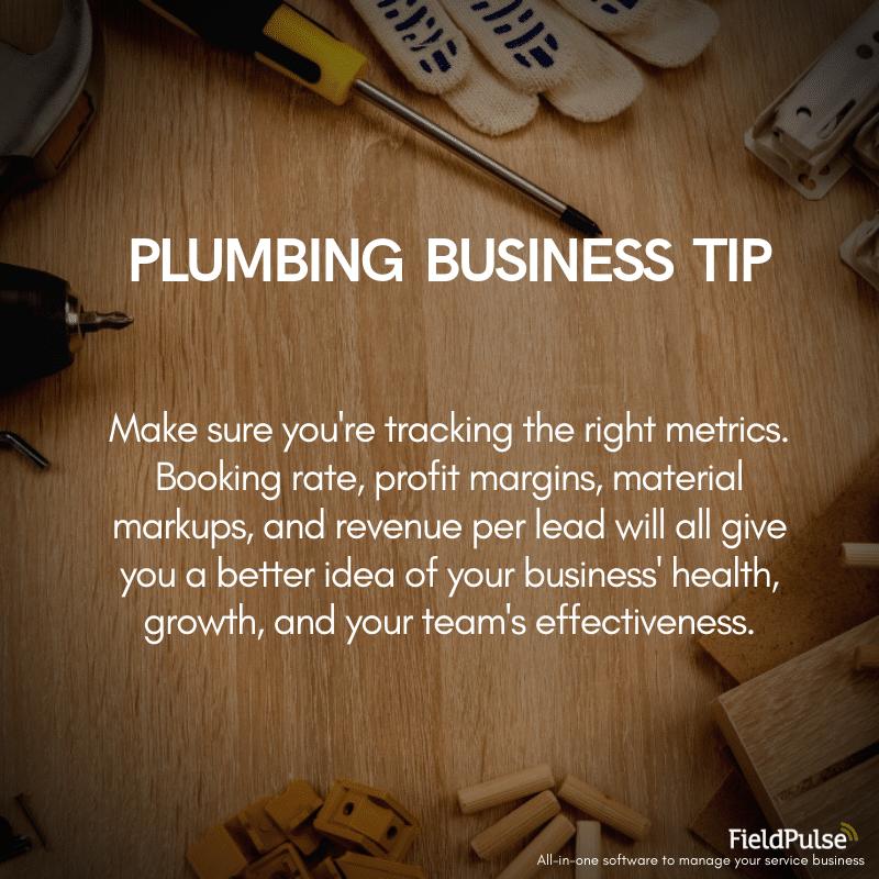 Plumbing Business Tip Metrics
