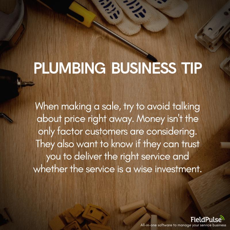 Plumbing Business Tip Sales