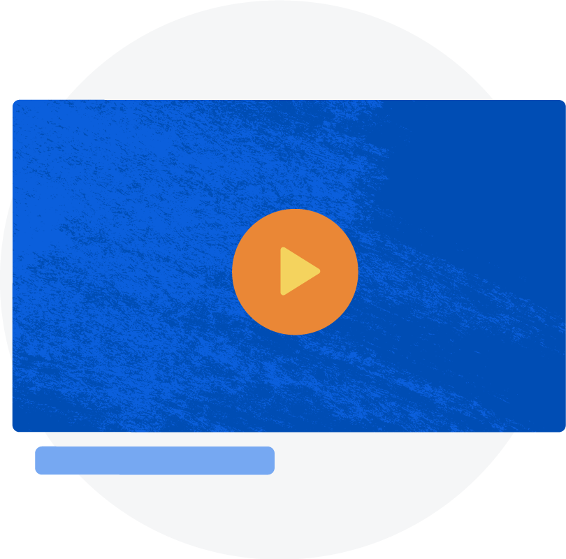 Illustration: A video player