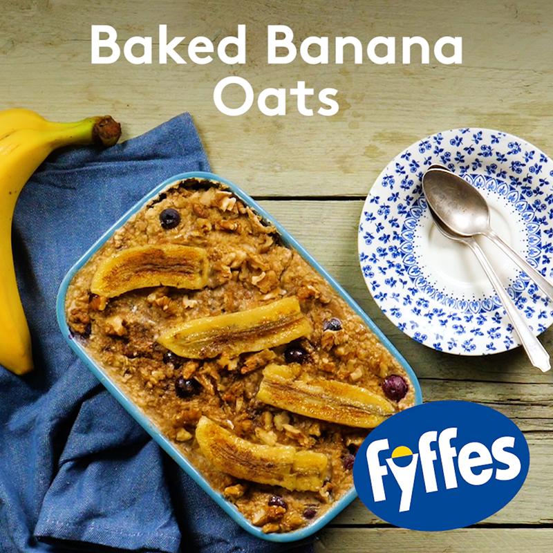 Fyffes Baked Banana Oats Recipe