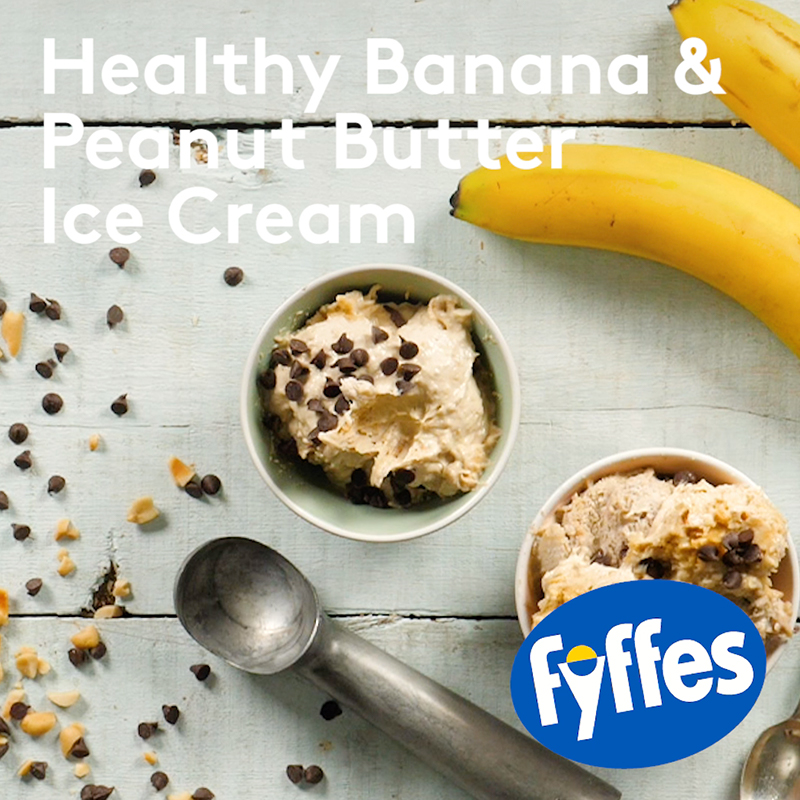 Fyffes Healthy Banana and Peanut Butter Ice Cream Recipe