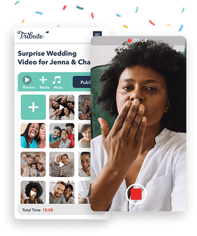 Use Tribute's user-friendly wedding video maker for your video montage