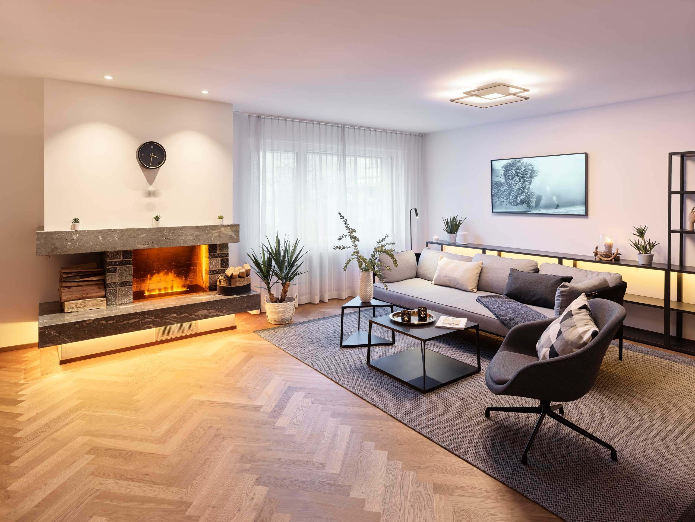 Sécurité, confort et efficacité énergétique: l'appartement témoin séduit les plus exigeants. Photo : Manuel Stettler