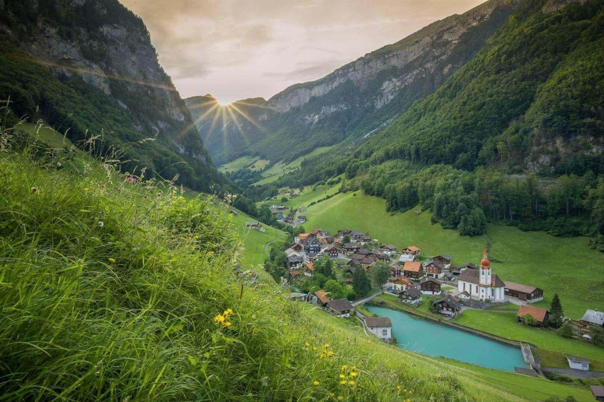 Le village d'Isenthal, en Suisse centrale, est un leader en matière de chauffage renouvelable. Isenthal.ch/Andre Indergand