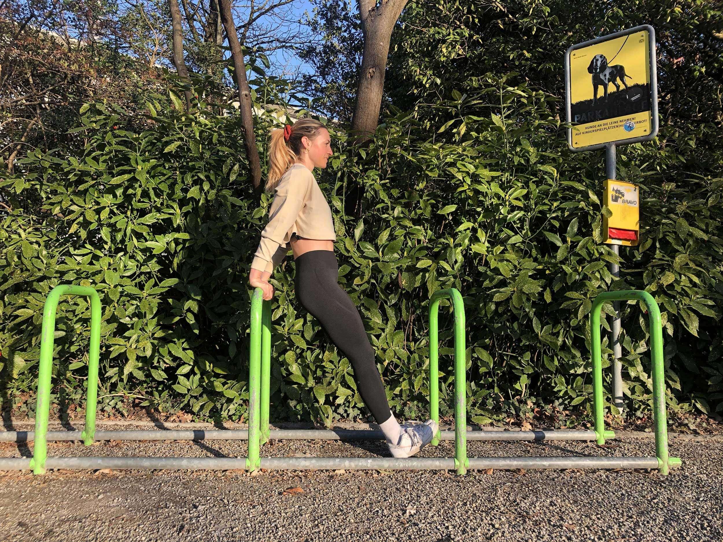 Les porte-vélos sont également adaptés à toutes sortes d'exercices.