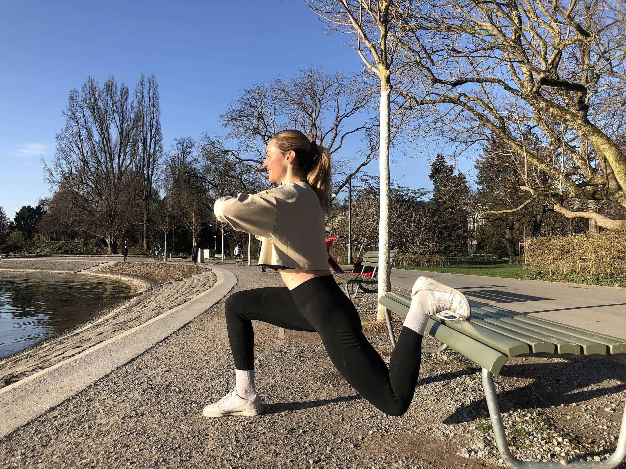 Lorsque le soleil printanier vous sourit, l'entraînement en plein air est deux fois plus amusant.