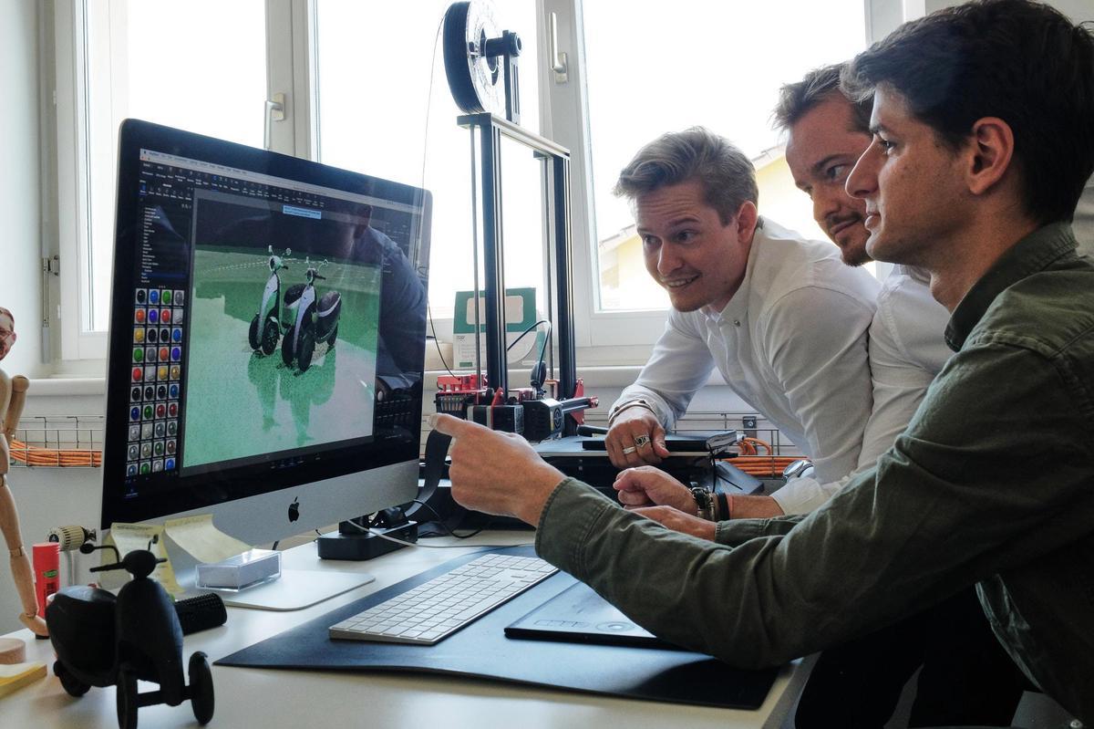 Mit dem Microletta ist bereits ein weiteres Elektrovehikel in Planung: ein Roller mit zwei Vorderrädern. Jan Graber
