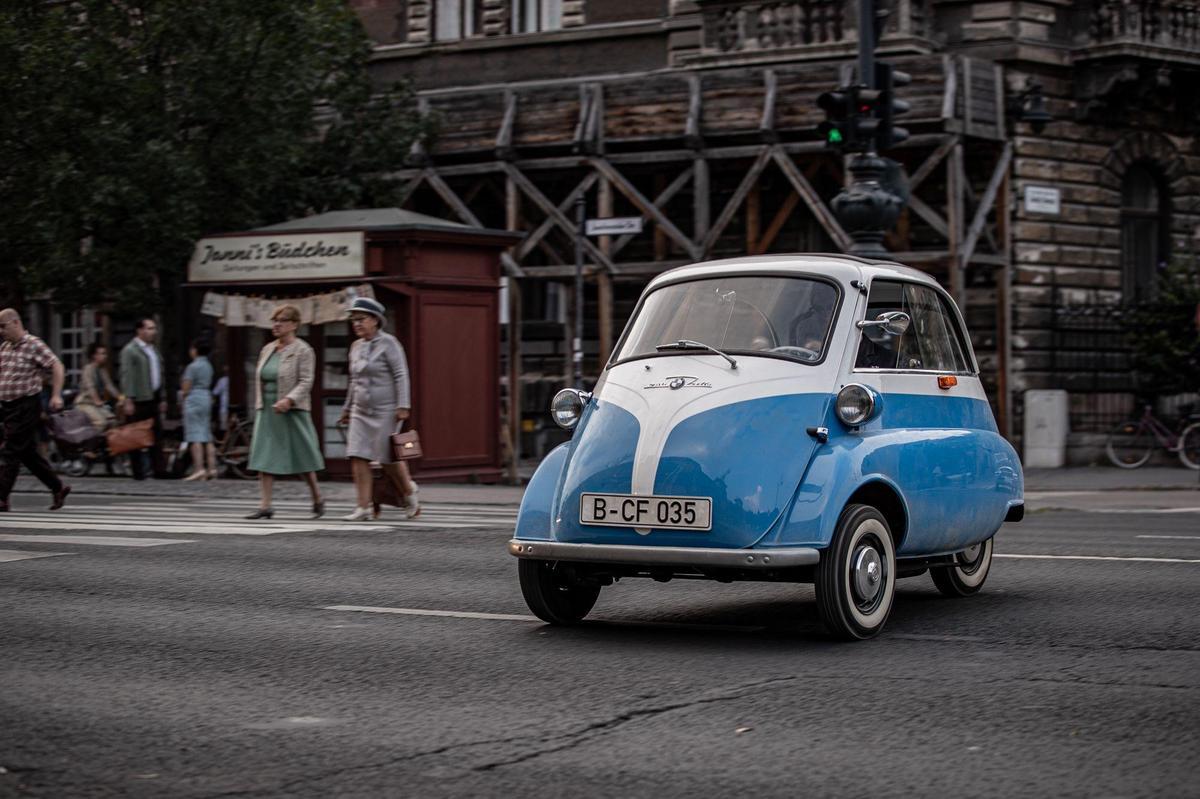 Als Vorbilder für den Microlino dienten Kabinenroller der 1950er-Jahre, wie der BMW Isetta, … BMW