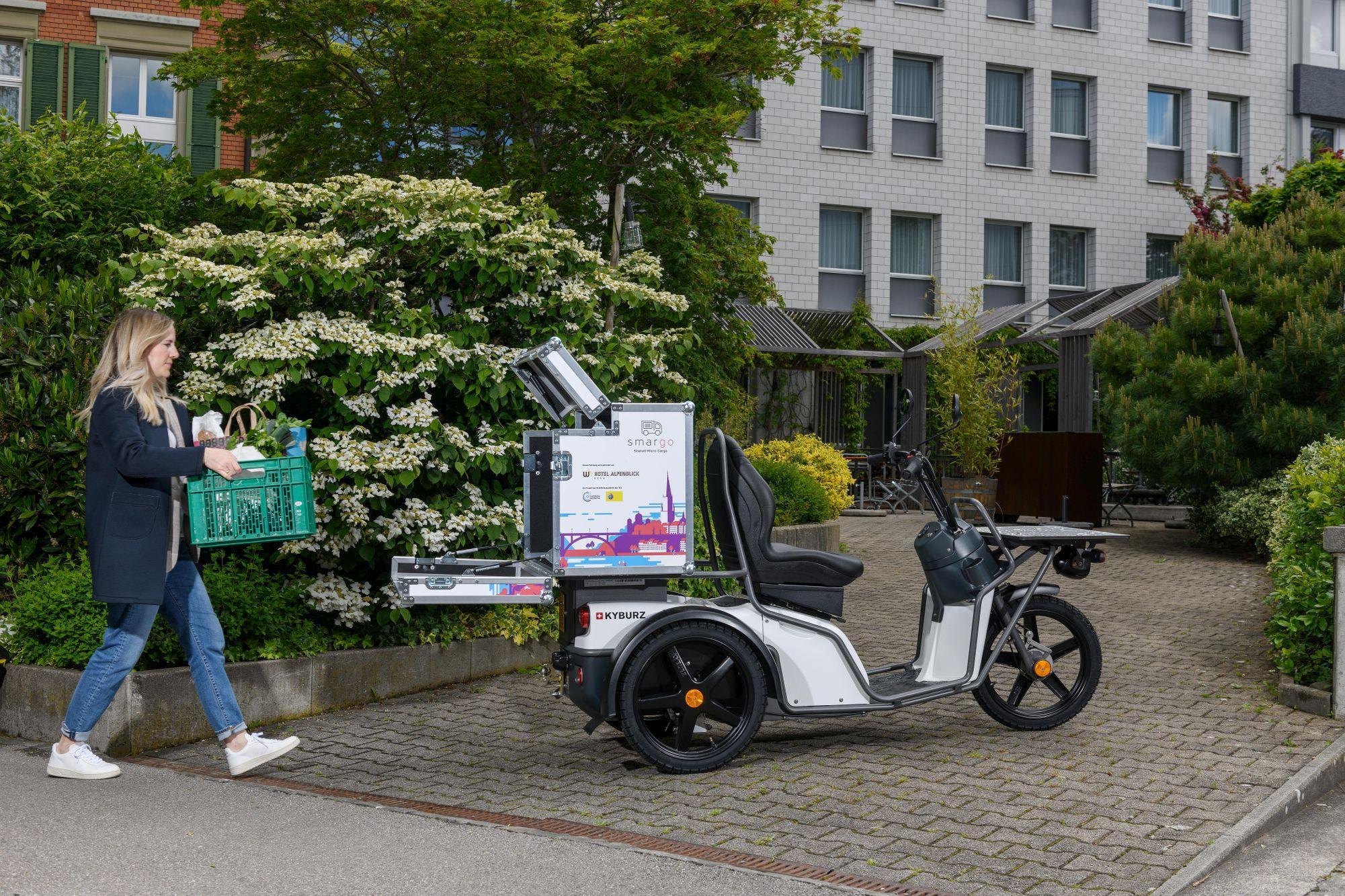 … und ein E-Cargo-Scooter gemietet werden. Smargo