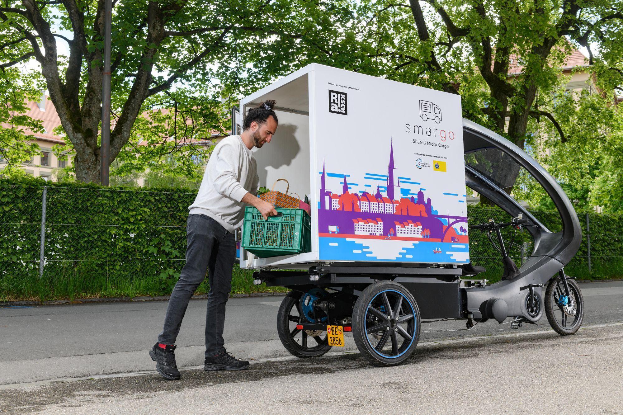 Sie eignen sich für den Transport schwerer oder sperriger Waren, für die sich das Fahrrad oder der ÖV nicht eignen. Smargo