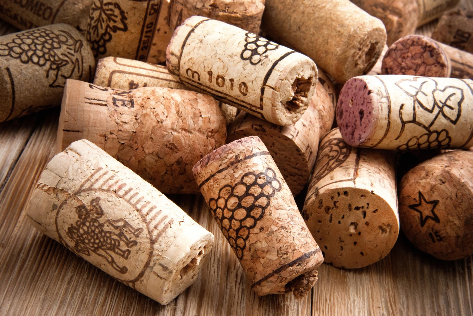 ...oder recycelte Korken aus der Weinindustrie...