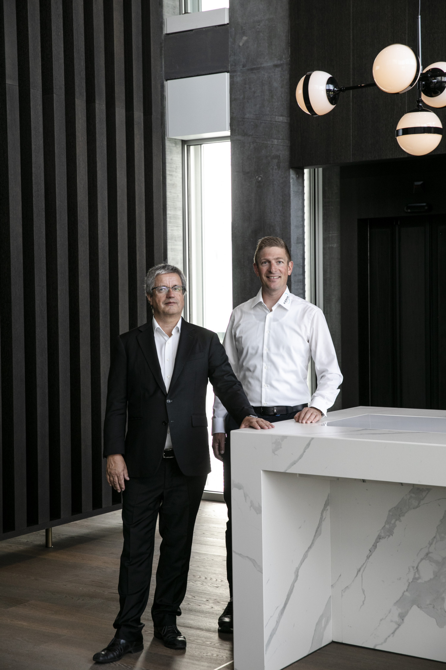 Besonders stolz sind Martin Müller (technischer Leiter des Hauses) und Michael Sturzenegger (Bauprojektleiter) auf die Convention Hall...