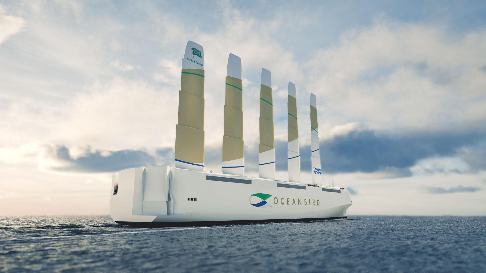Brandneuer Frachtsegler: Die «Oceanbird» soll dereinst bis zu 7000 Autos transportieren. Wallenius Marine