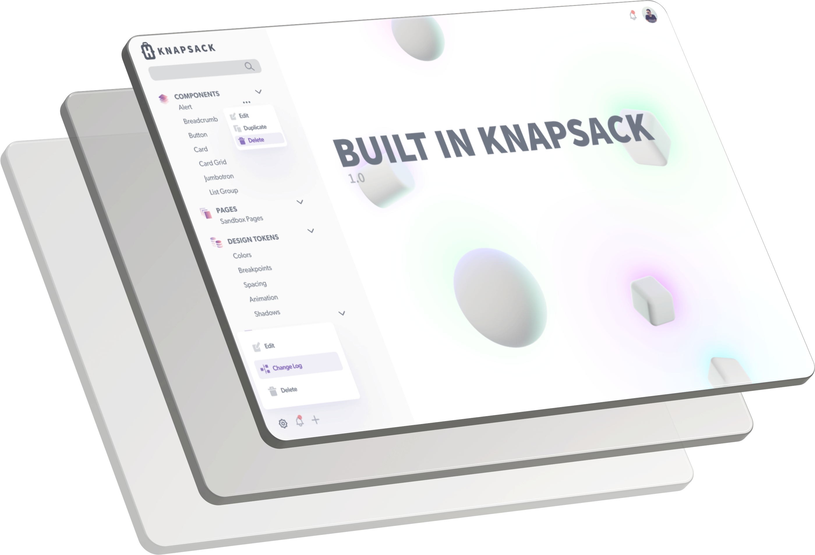 Knapsack user interface is your source of truth.