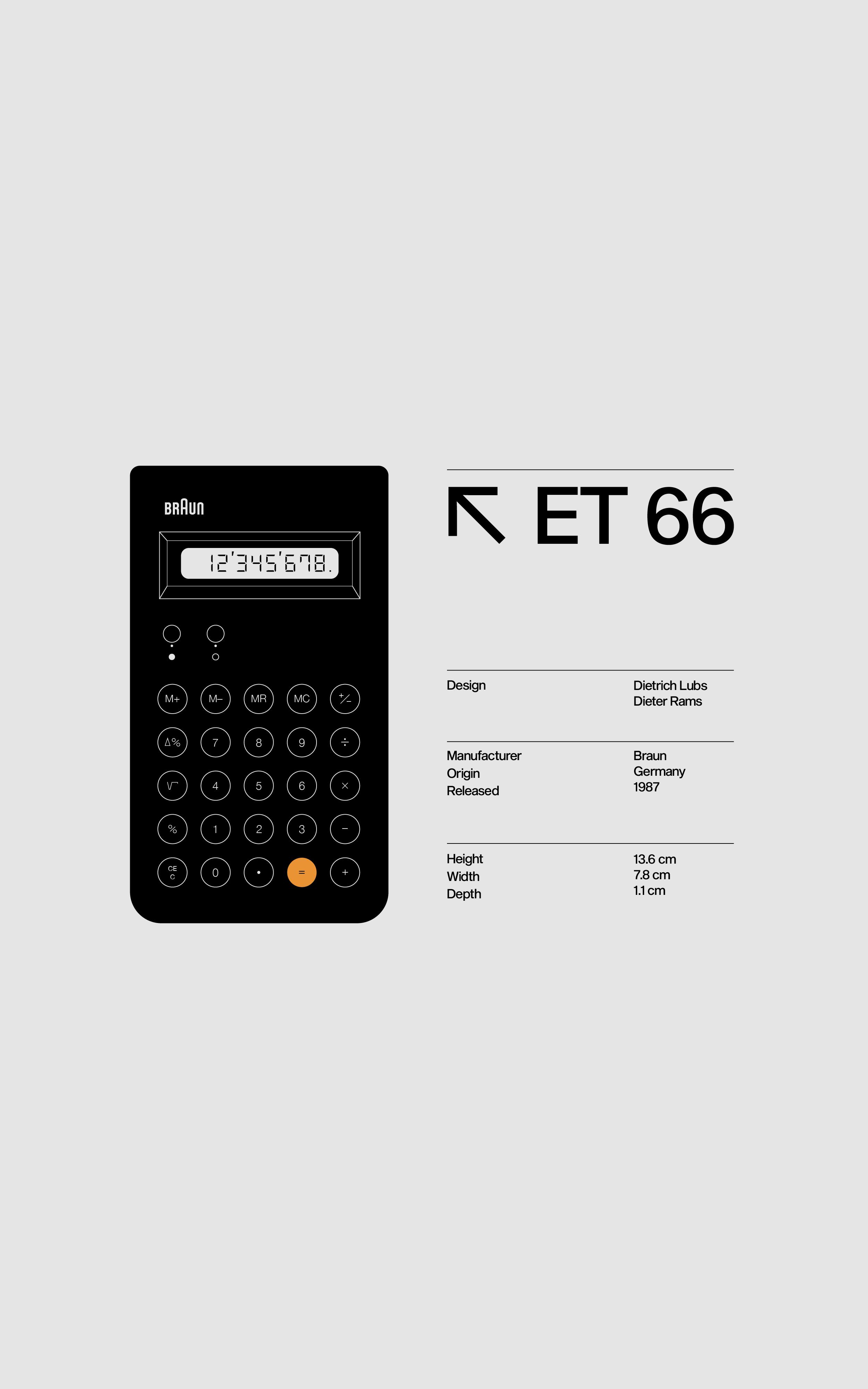 The Designer's Calculator — Braun ET66