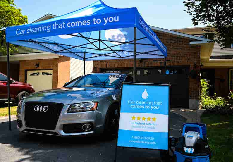 Exterior car detailing in Thornhill