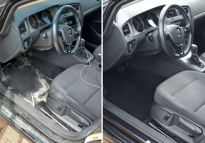 Interior car cleaning in Scarborough