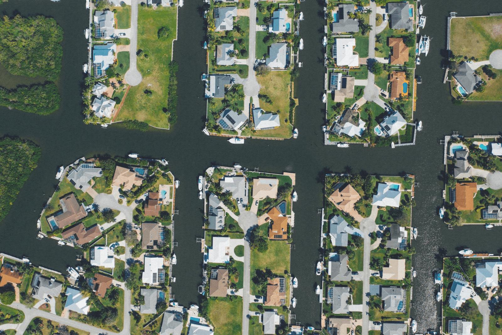 neighborhood from aerial view