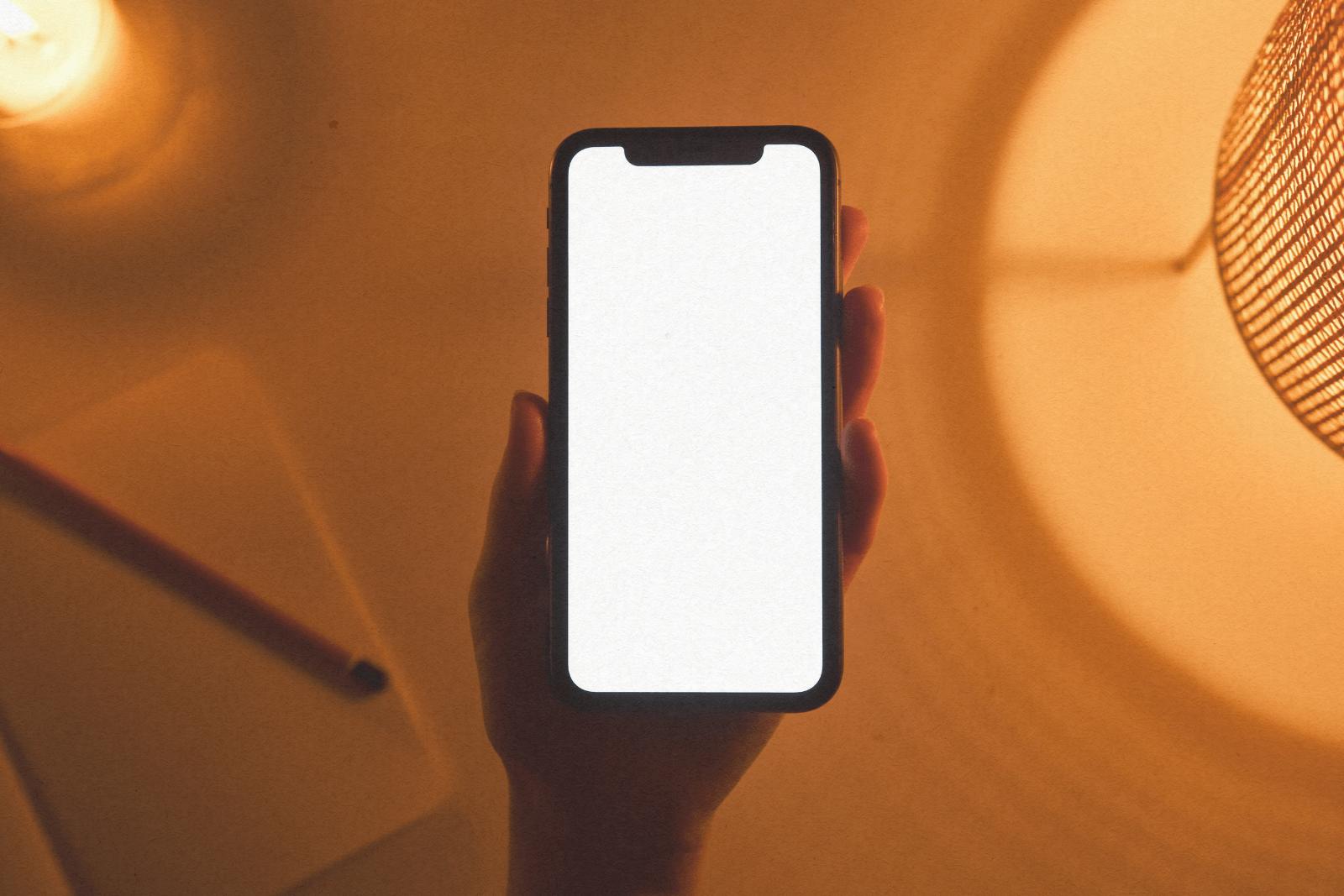blank iphone