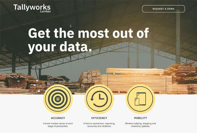 Tallyworks website screenshot