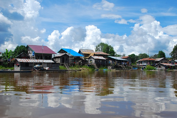 Borneo River Town