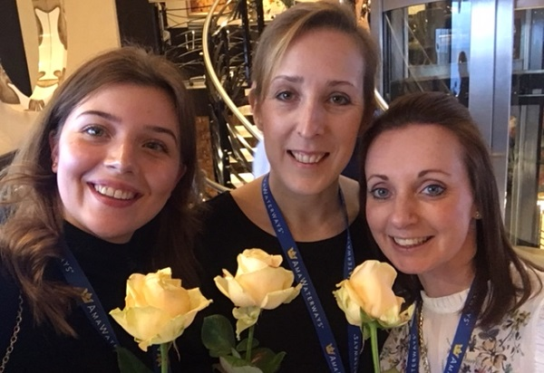 Rayleigh, Carley and Hannah With Roses