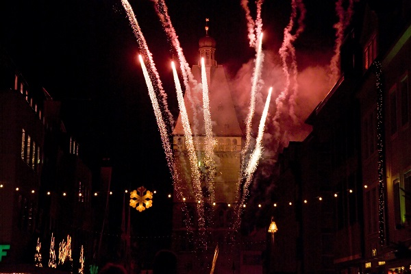 Speyer Old Gate In Flames