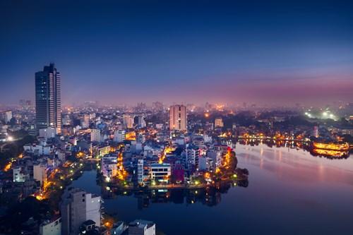 hanoi cityscape
