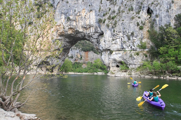 Canoeing In The Ardeche Gorges