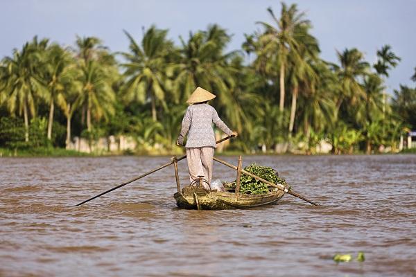 Lady On Mekong River
