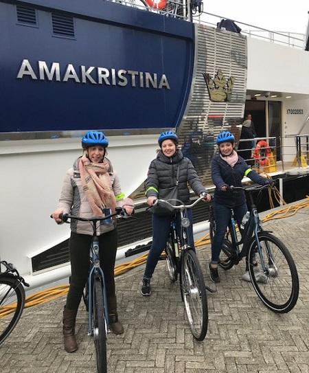 AmaWaterways Bikes Hannah, Carley and Rayleigh