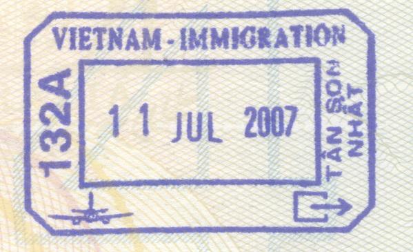 Vietnam Visa Stamp