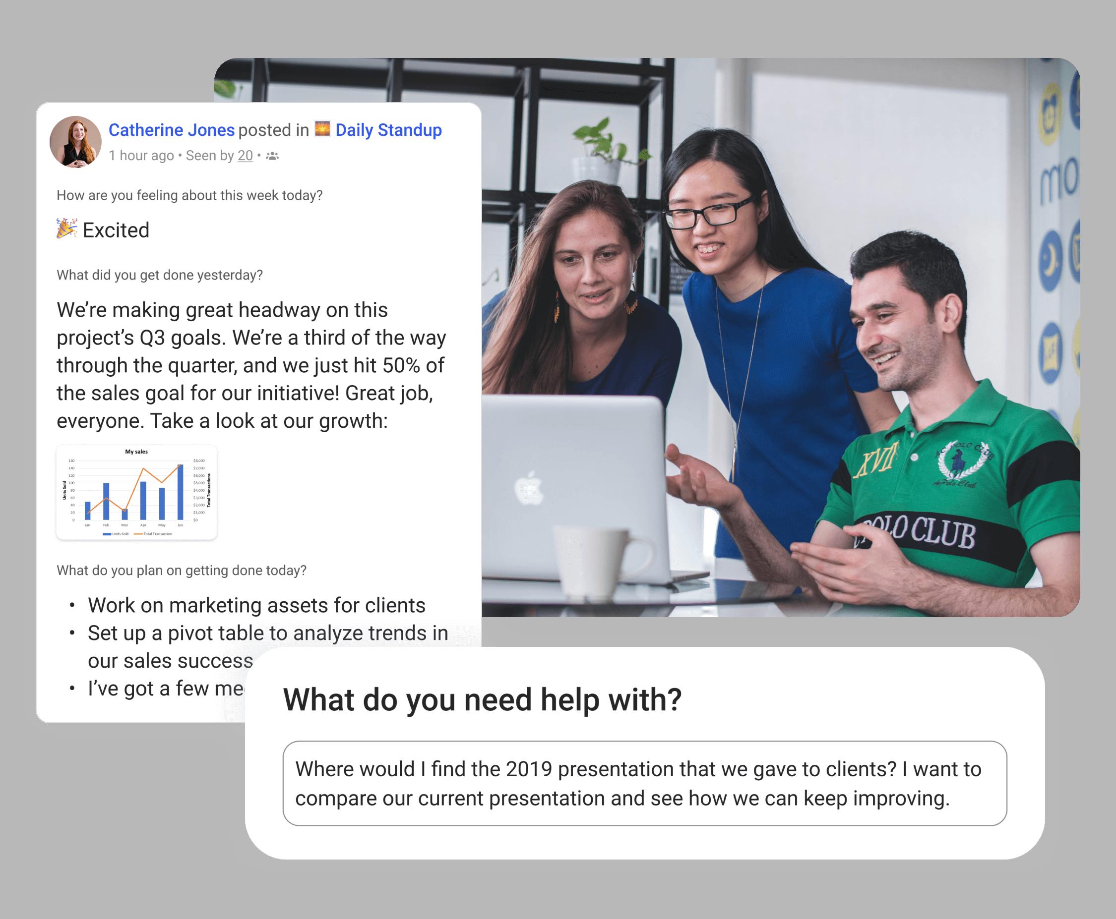 Bring together teams, tasks, and conversations
