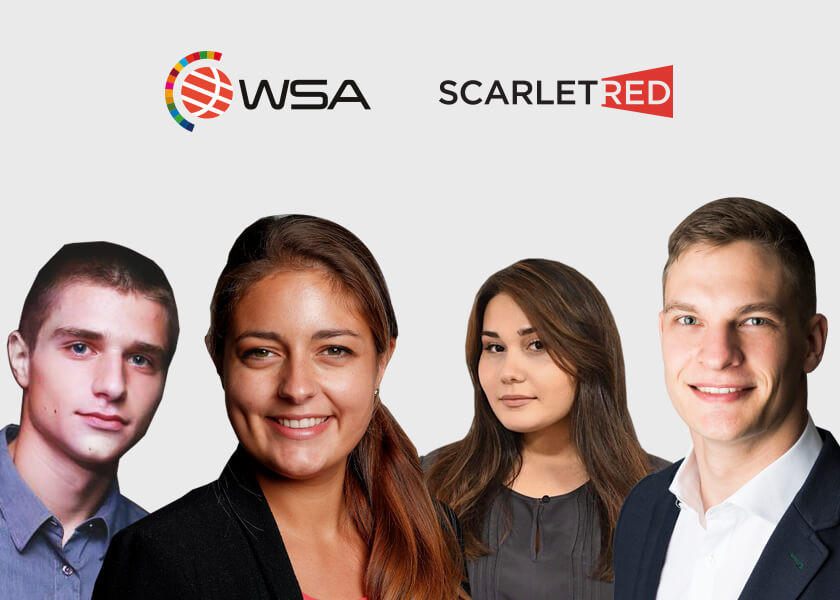 Student team winning 3rd place with the challenge of Scarletred on the WSA Youth for Innovation program