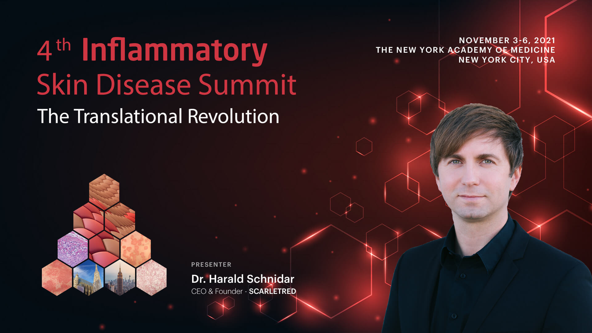 CEO Dr Harald Schnidar presenting at the 4th Inflammatory Skin Disease Summit in New York City