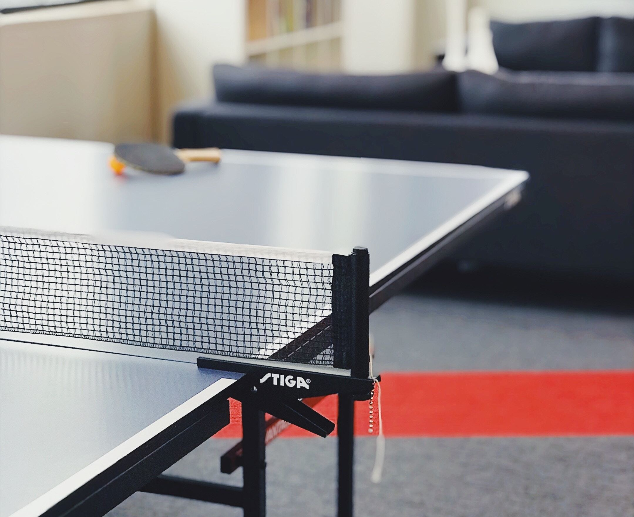 Ping Pong table in a breakroom