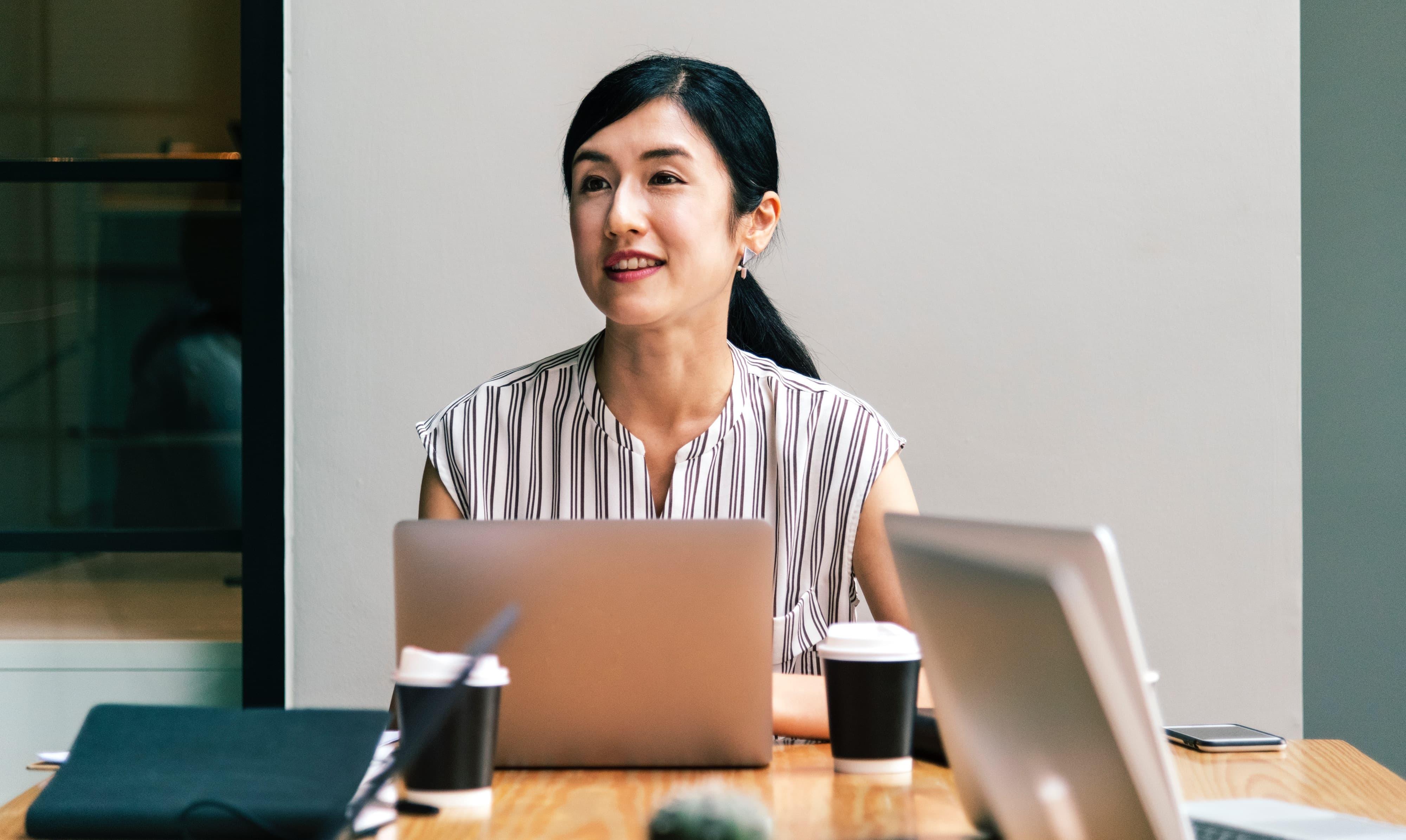Female startup founder