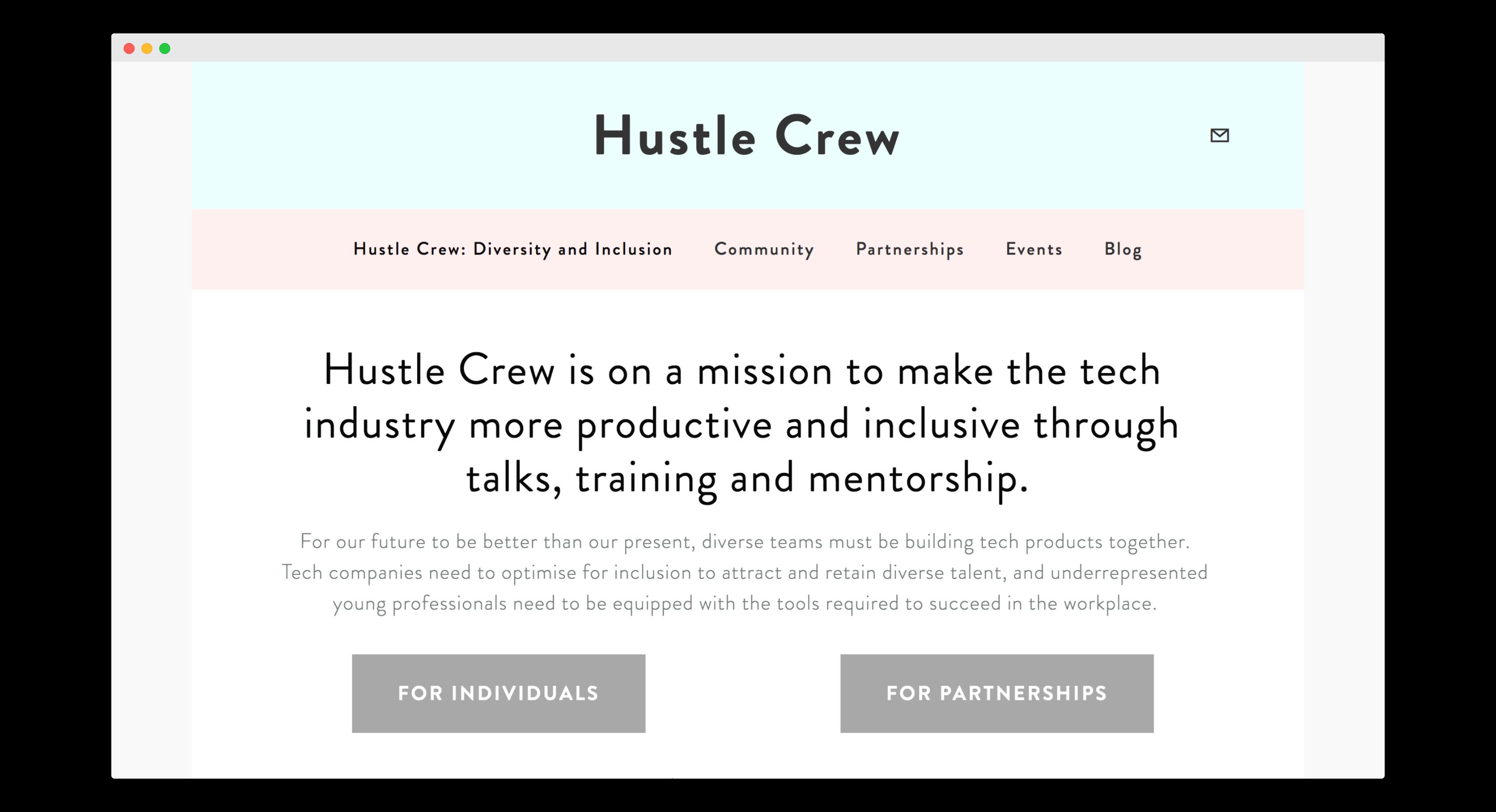 Hustle Crew's homepage