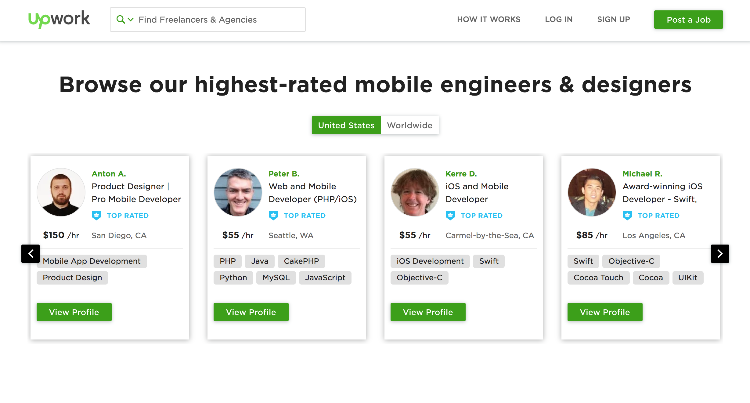 freelance mobile developers