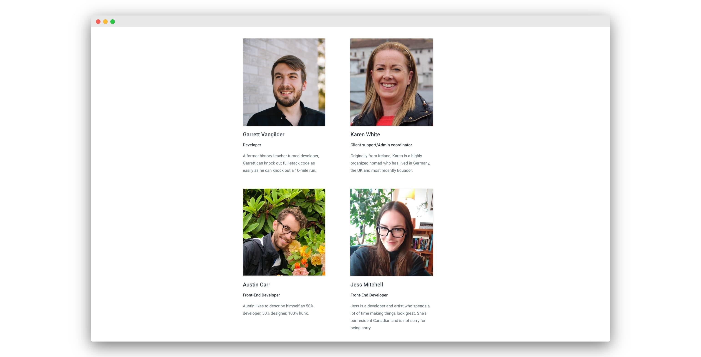 Krit's team of app developers